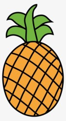 Pineapple Food Fruit Download Luau Fruits Clipart Black And White Transparent PNG 410x749 Free Download on NicePNG