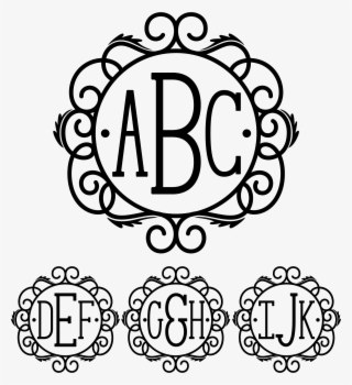 Sds Holly Split Monogram C Cricut Monogram Font, Free