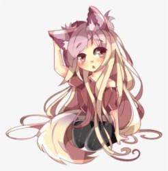wolf anime kawaii werewolf ears neko drawings drawing animegirl nicepng fox aphmau