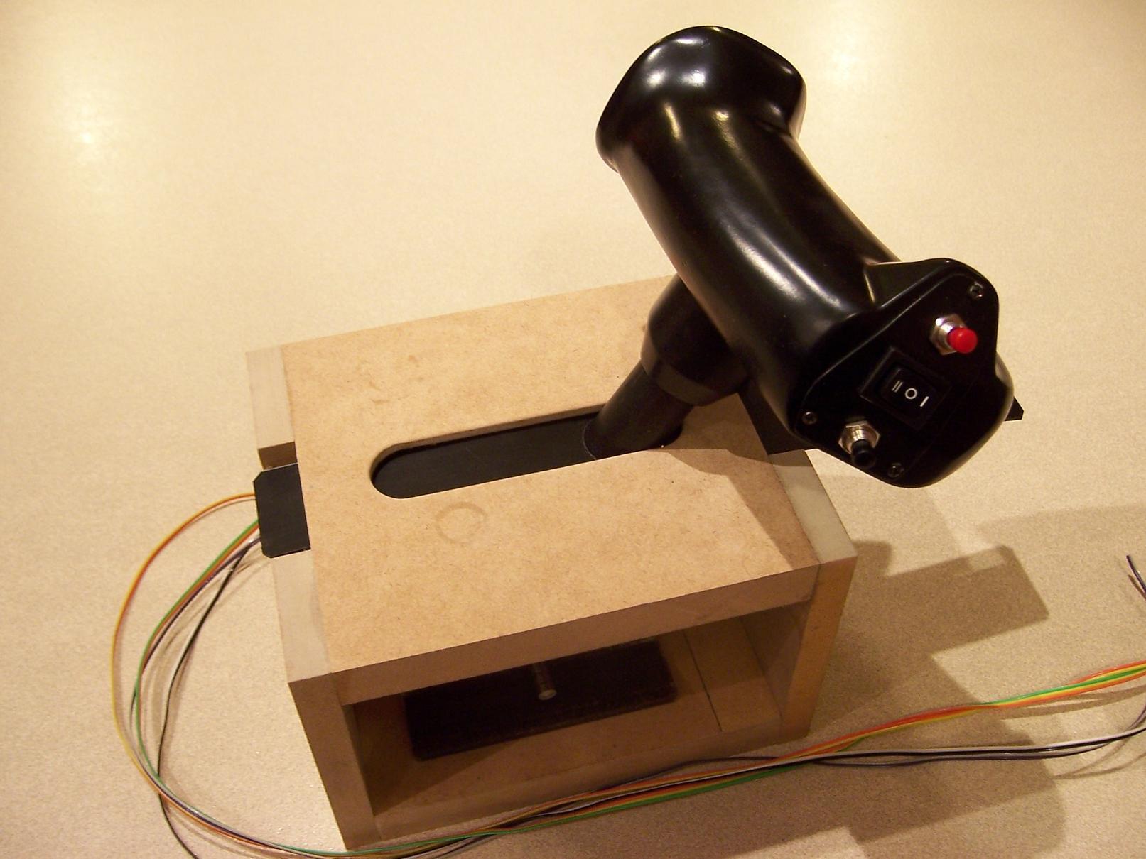 office chair joystick mount tan leather diy desk design ideas
