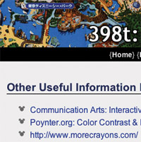 information design web page