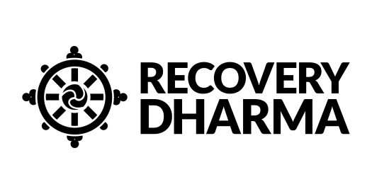 Mockup of several Recovery Dharma logos as seen in a design application.