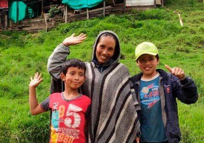 Nubia e hijos, una familia campesina que destaca en YouTube