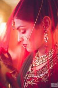 shy indian bride