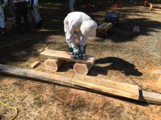 2016林業講座第5回ベンチ作り