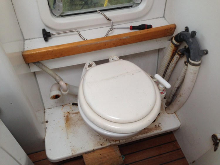 démontage WC