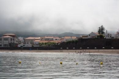 plage de Praia et brume