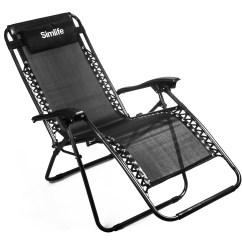 Black Patio Chairs Pollock Executive Chair Simlife Zero Gravity Lounge