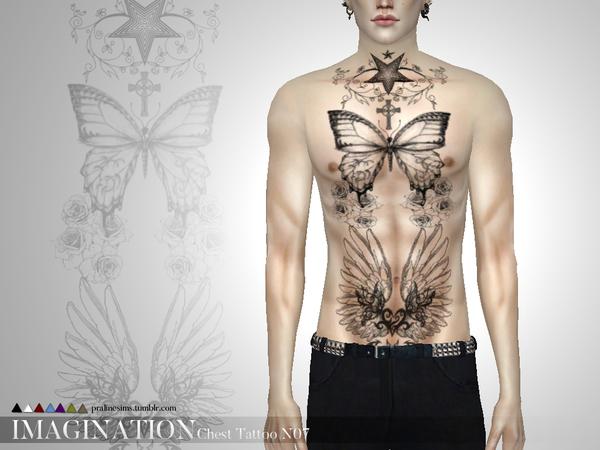 Asì se ve el tatuaje en el cuerpo de un hombre.