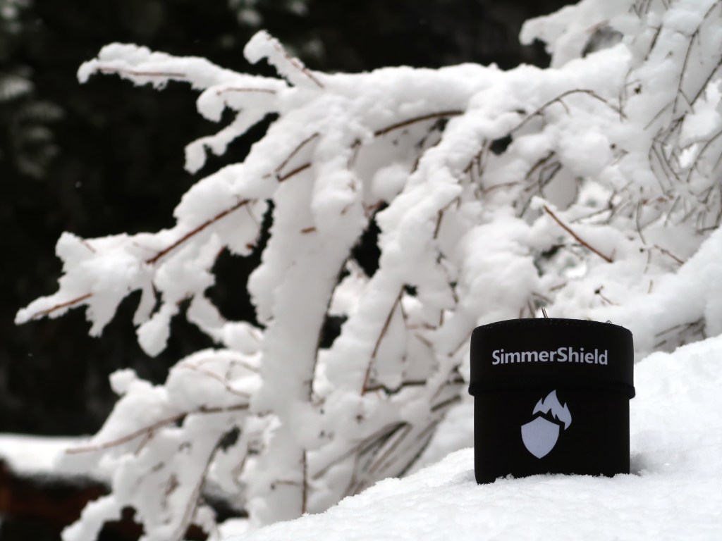SimmerShield packed up and tucked into the snow