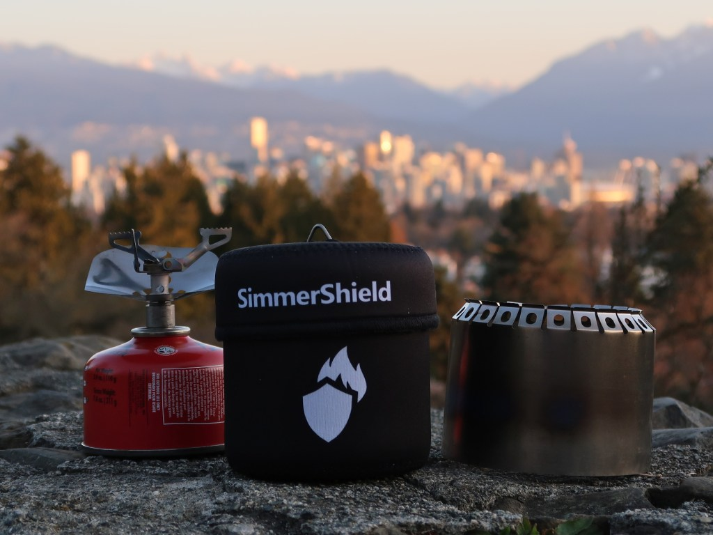 SimmerShield parts shown separately at sunrise