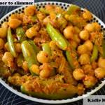 Kadle Manoli ( Chickpeas with Tindora) (Channa – Tendli)