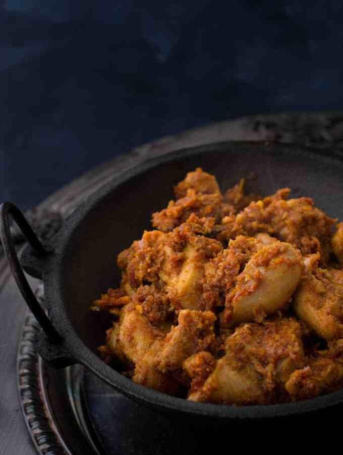 Kori Ajadina (Chicken Sukka) – Mangalorean style dry chicken
