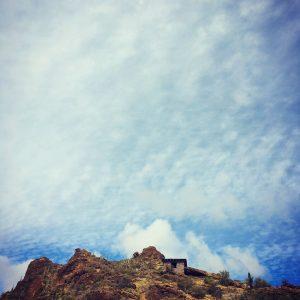 Stone lookout near Gates Pass, Tucson Mountains.