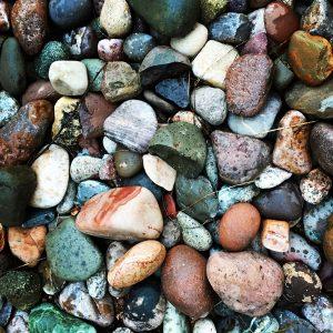 Rocks following rain.