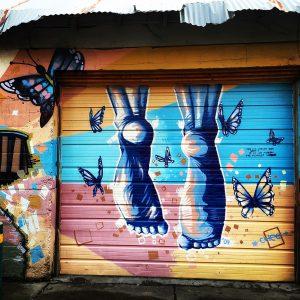 Alley mural in Flagstaff, Arizona.