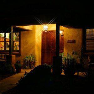 Nighttime in Civano, which follows Pima County's dark sky ordinance.