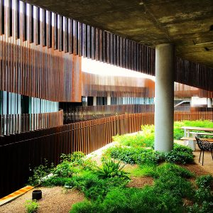 """A """"hanging garden"""" at the ENR2 building at the University of Arizona."""
