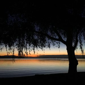 Twilight on Bellingham Bay, Washington.