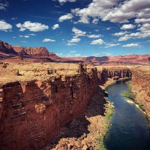 The Colorado River as viewed from Navajo Bridge in northern Arizona.