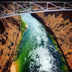 The Colorado River and Navajo Bridge. No condors in this visit, alas.
