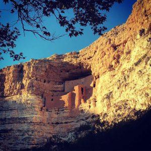 Montezuma's Castle near the Mogollon Rim in northern Arizona.