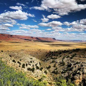 Viewing the Vermillion Cliffs of northern Arizona.