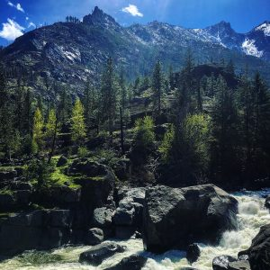 Not exactly red rock country: the Icicle River in Central Washington, with the Cascades in the distance.