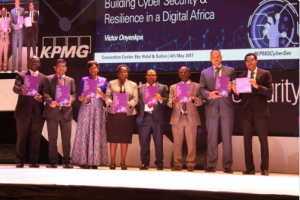 L – R - Sylvester Yaovi Apedoe Jnr. – Director of IT, Universal Merchant Bank, Ghana; Chidinma Iwe - Chief Information Security Officer, MainOne, Nigeria; Rakiya Mohammed – Chief Information Security Officer, CBN; Itay Kozuch – Lead, Cyber Defense Services, KPMG Isreal and Andrew Akoto – Partner, Risk Consulting, KPMG Ghana, panelists at the KPMG Cyber Security Conference recently in Lagos.