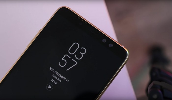 Samsung Galaxy A8 2018 the mid-range phones with Dual Front Camera, Large Infinity Display