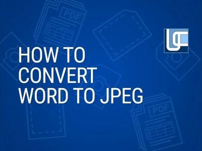 Word Document to JPG