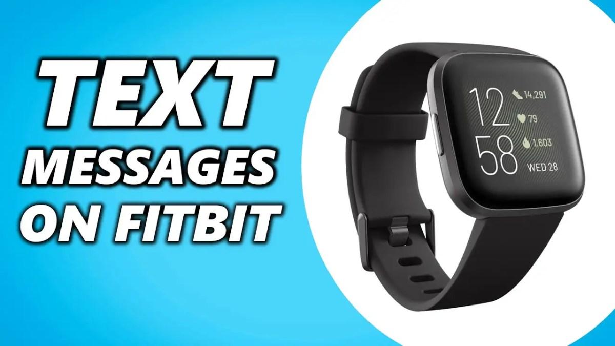 Text on Fitbit Versa