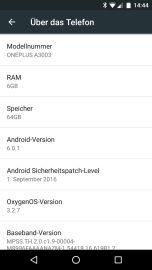 Das OnePlus 3 läuft mit OxygenOS das praktisch Stock-Android ist.