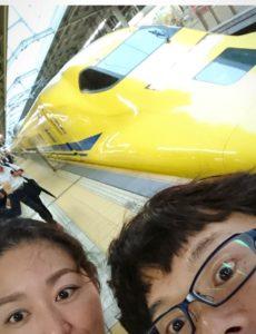 去年、新大阪駅で見たドクターイエロー