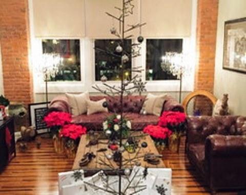 Foto contoh desain dan dekorasi pohon natal 65  SI MOMOT