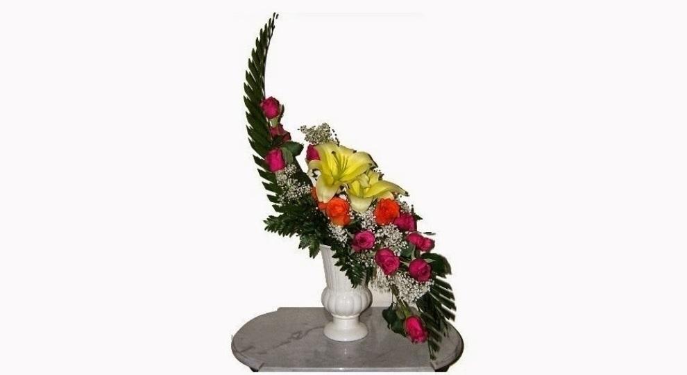 50 Contoh rangkaian bunga segar Cara merangkai ala