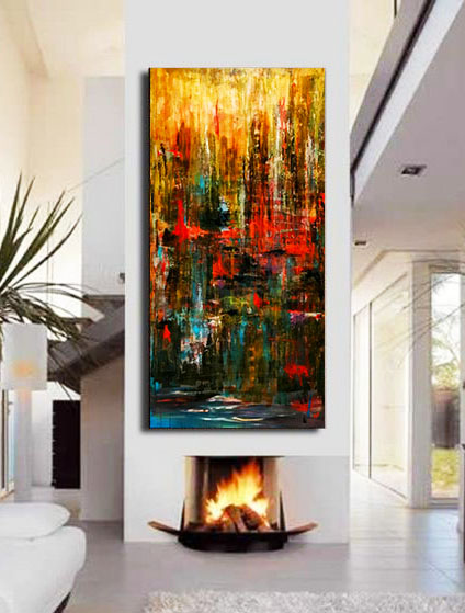 quadri moderni su tela opere originali dipinte a mano