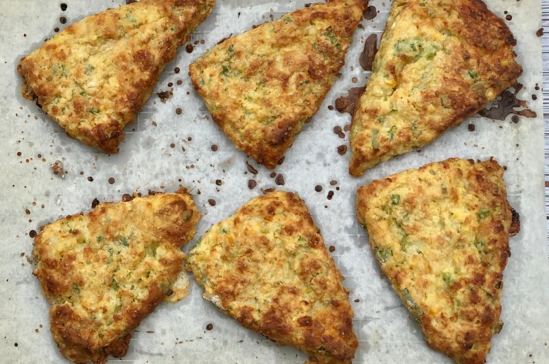 Gluten-free Sweet Corn, Cheddar and Jalapeño Scones