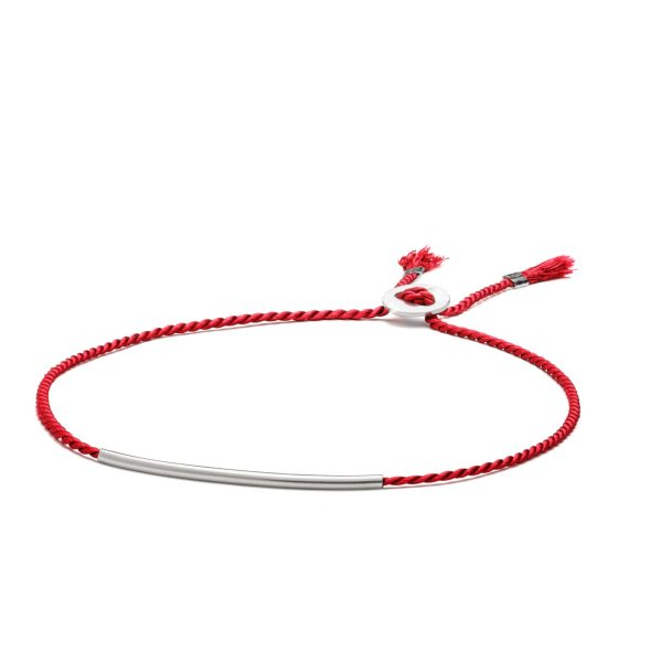 raudono-silko-apyranke-sidabrine