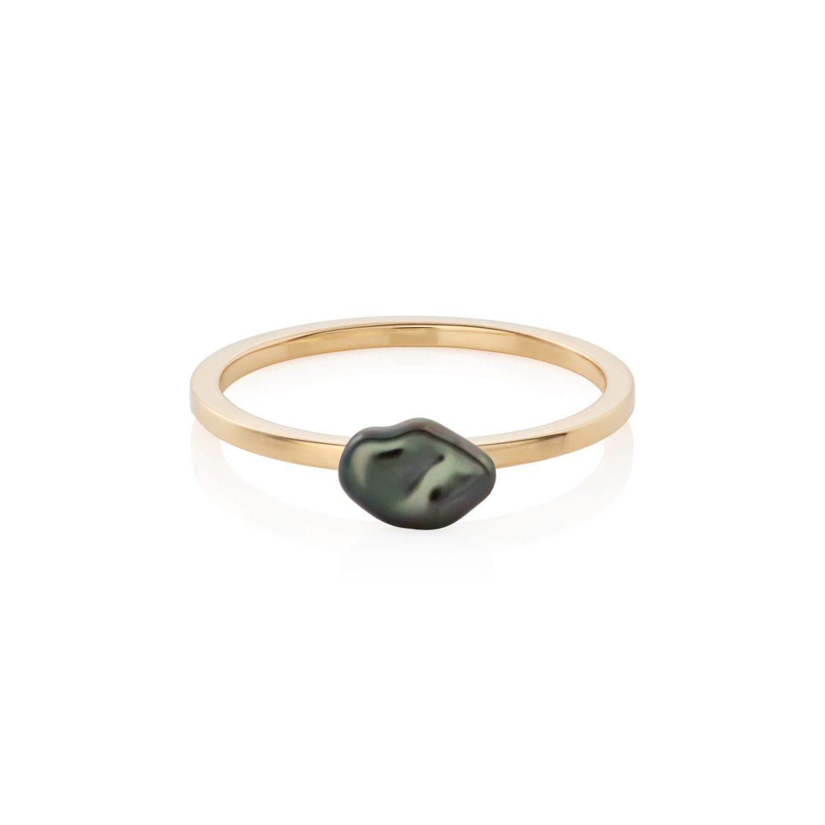 Tahiti Keshi Pearl Ring