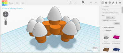 TinkerCad - creating structures