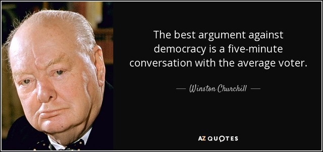 Against Democracy Churchill Quote