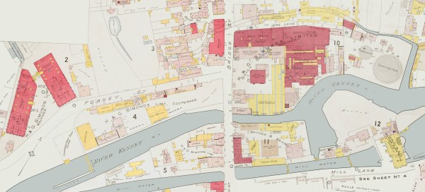 1895 Brewery map by Goad