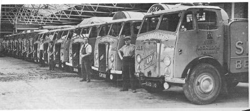 1930's row of ERF trucks at Bridge Street