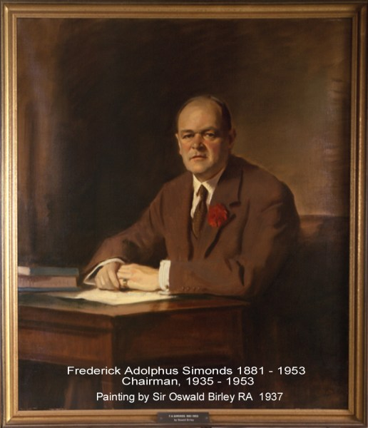 Simonds FA 1937 Chairman