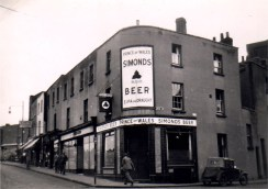 Tower Lane, Prince of Wales, demolished 1976.