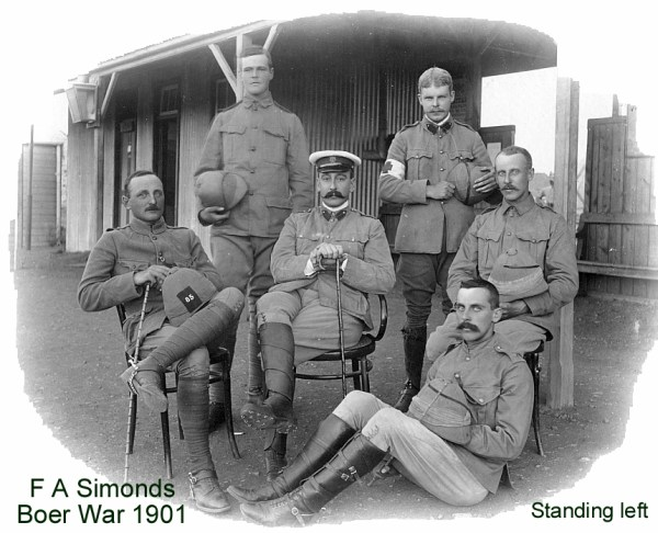 Taken in 1901 in South Africa. These must be the Officers of the Berkshire Volunteers / Berkshire Yeomanry. I have others from this regiment and period.