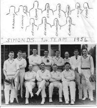 Cricket 1st 11 1954