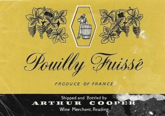 Pouilly Fuisse Arthur Cooper
