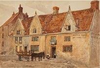 Sheene Lane, The Spotted Horse & Albert Hotel c 1880